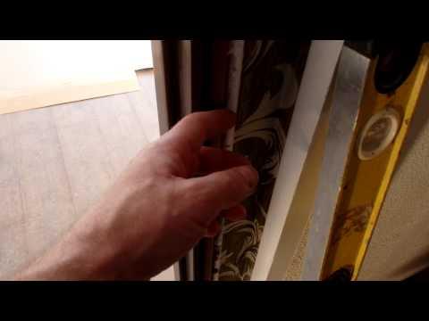 Установка дверей, выставление дверной коробки в проёме