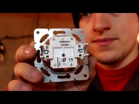 Схема подключения проходного выключателя | переключателя.