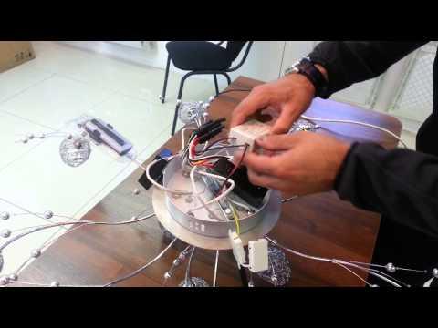 Подключение люстры с галогеновыми лампами