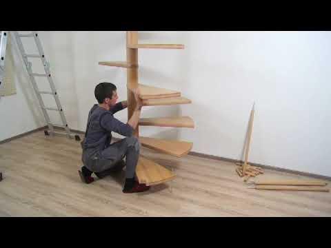 Монтаж винтовой лестницы ЮТА