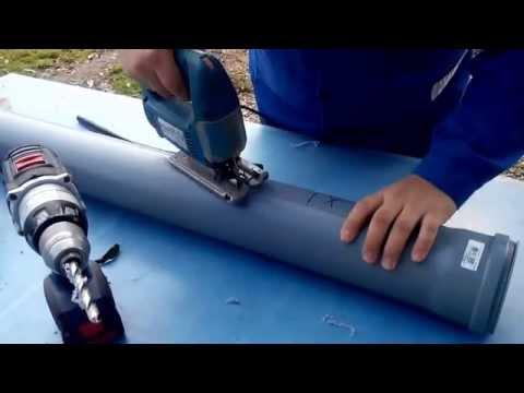 Кормушка и поилка из канализационной трубы