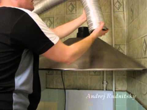Как установить вытяжку на неровную стену