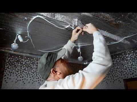 Монтаж диодных светильников на потолок ч.2