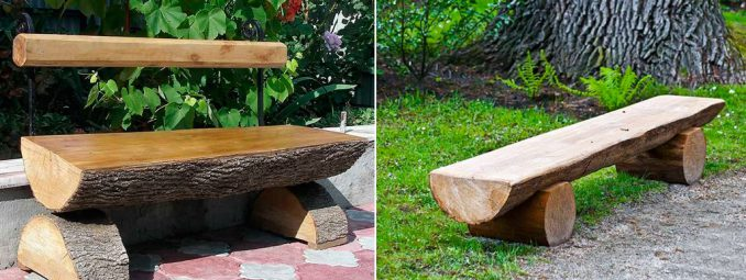 1-3-678x255 Лавочка для дачи - 150 фото идей деревьяных и металических дачных лавочек и скамеек