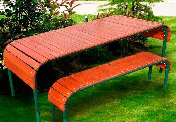 10-678x470 Лавочка для дачи - 150 фото идей деревьяных и металических дачных лавочек и скамеек