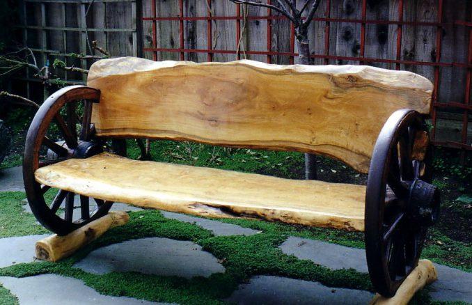 12-1-678x438 Лавочка для дачи - 150 фото идей деревьяных и металических дачных лавочек и скамеек