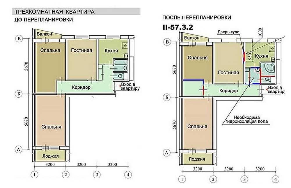 Ремонт трехкомнатной квартиры в хрущевке в Новосибирске от Схема трехкомнатной квартиры в хрущевке