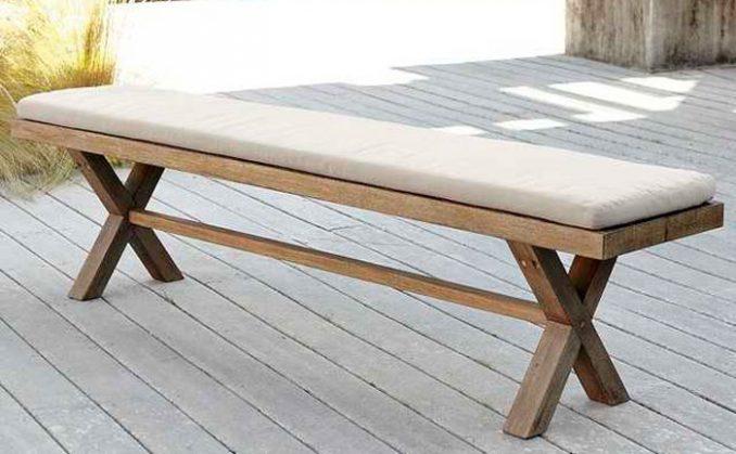 14-678x419 Лавочка для дачи - 150 фото идей деревьяных и металических дачных лавочек и скамеек