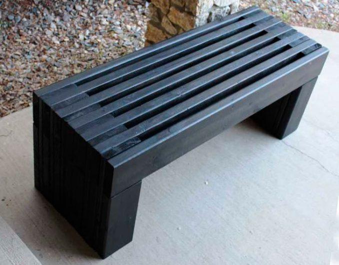 16-678x529 Лавочка для дачи - 150 фото идей деревьяных и металических дачных лавочек и скамеек