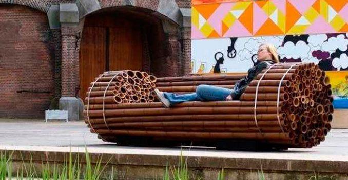 18-678x352 Лавочка для дачи - 150 фото идей деревьяных и металических дачных лавочек и скамеек