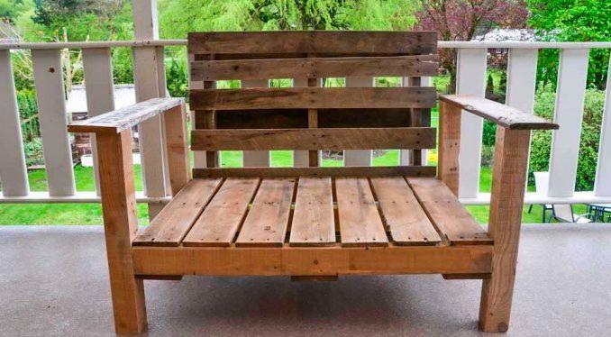 28-678x374 Лавочка для дачи - 150 фото идей деревьяных и металических дачных лавочек и скамеек