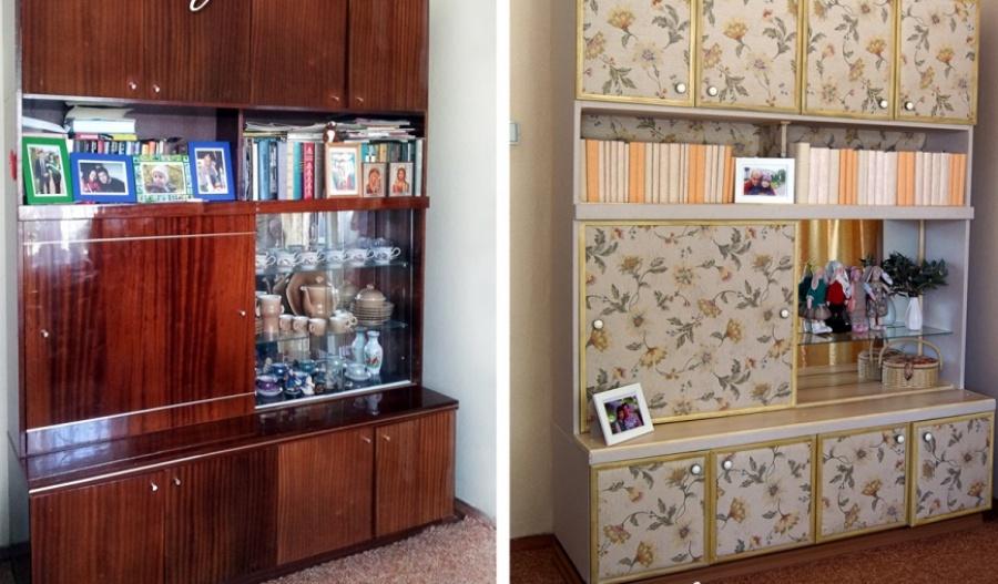 Обновление старой мебели своими руками идеи фото 46