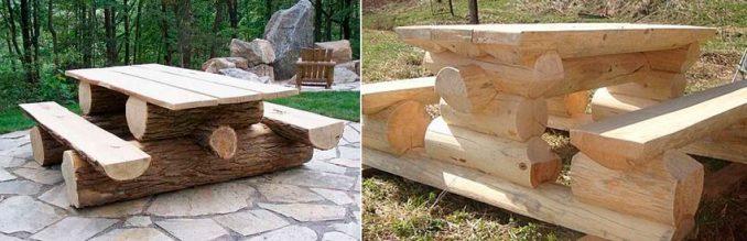 4-2-678x219 Лавочка для дачи - 150 фото идей деревьяных и металических дачных лавочек и скамеек