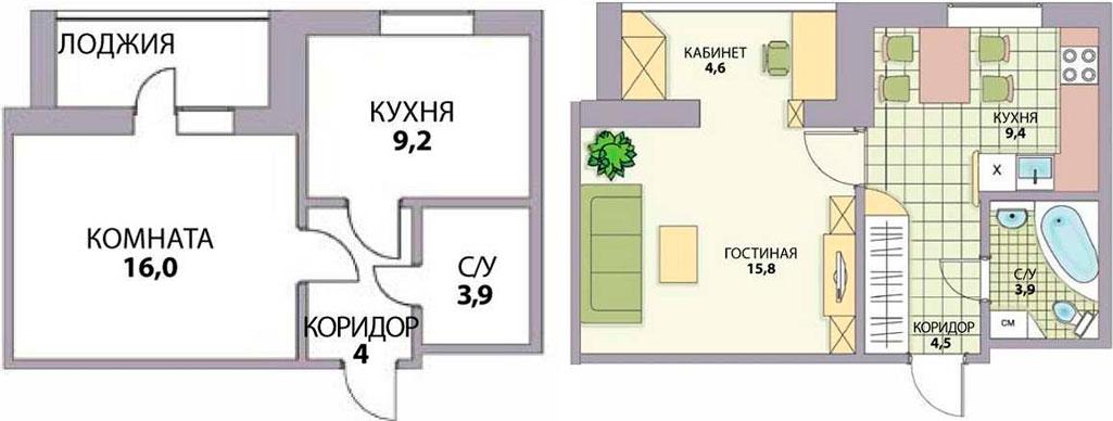 Перепланировка хрущевки 3 комнаты в кирпичном доме варианты и фото   388x1025