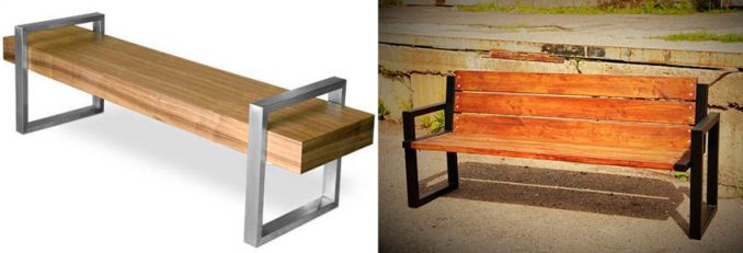 8-1-678x231 Лавочка для дачи - 150 фото идей деревьяных и металических дачных лавочек и скамеек