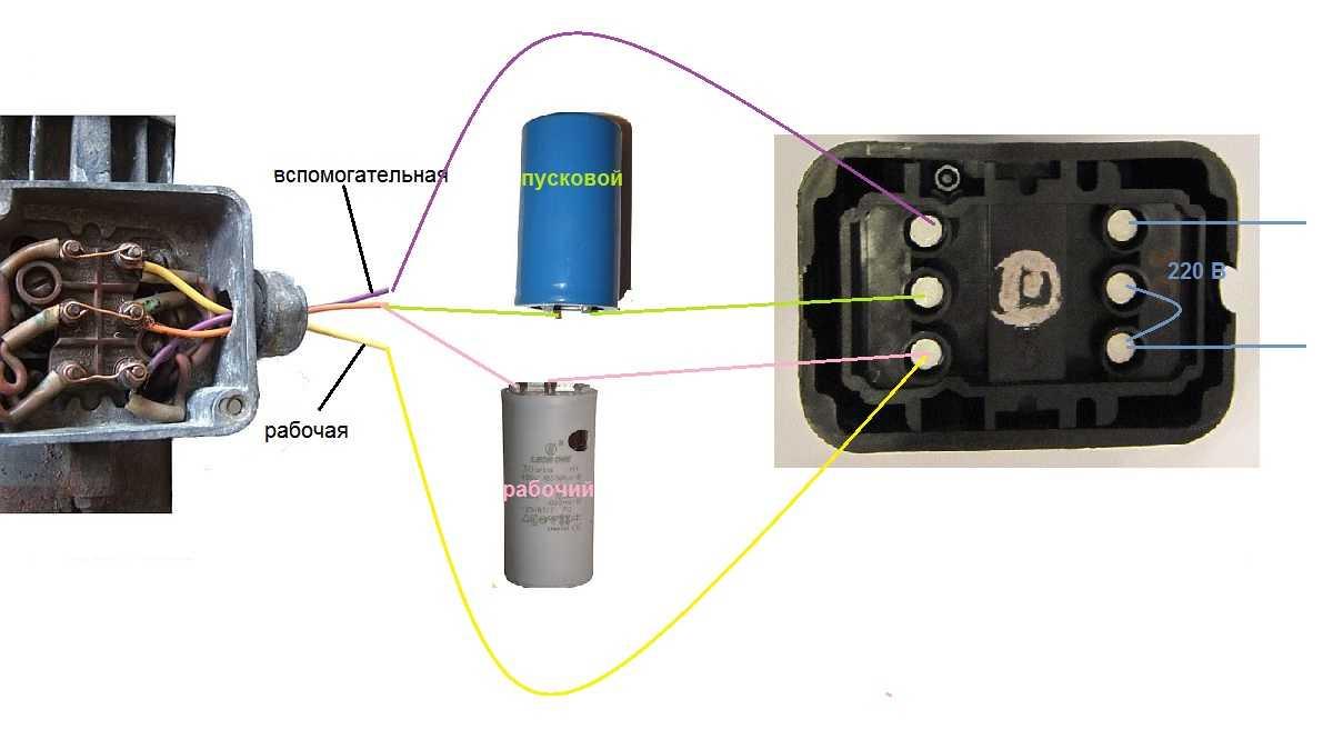 """Картинки по запросу """"Запуск однофазного асинхронного двигателя с помощью специального пускового конденсатора"""""""
