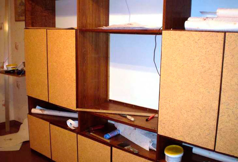 Как обновить кухонную мебель своими руками из дсп.